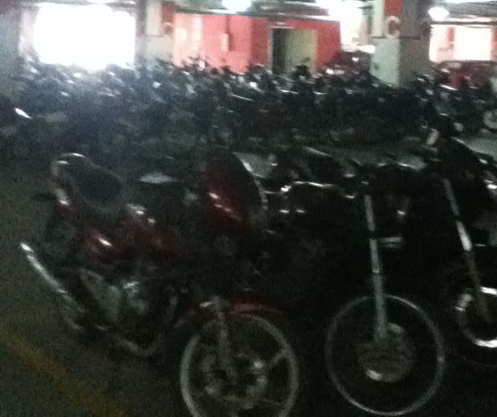 Motorcycles at EY RMZ office